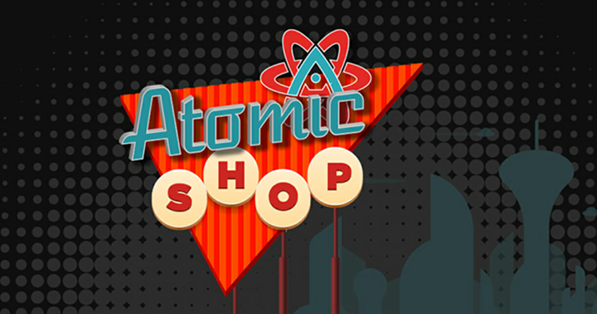 atomic shop banner for mobile